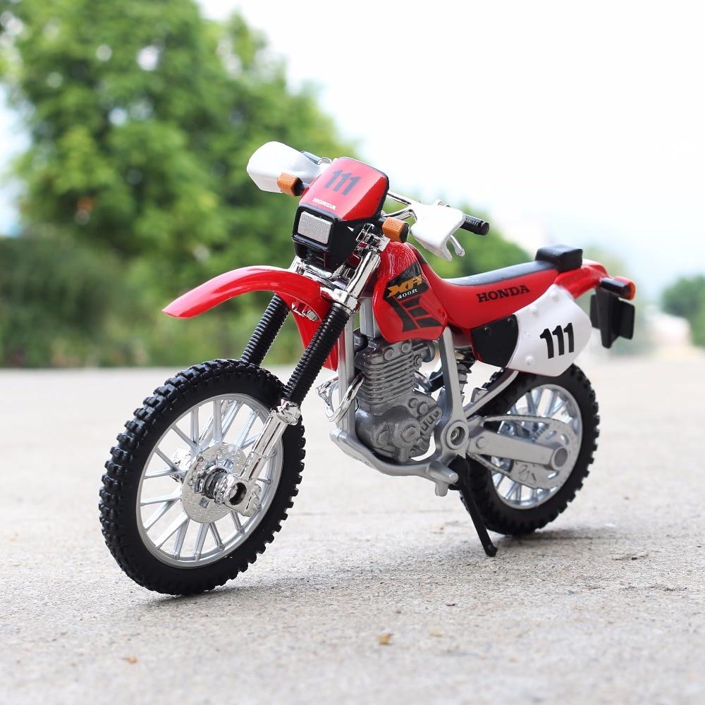 Maisto Honda XR400R a escala 118, coches de carrera, Mini motocicleta, modelos de vehículos, juguetes de oficina, regalos para niños
