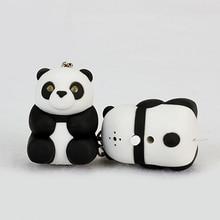 Cute Panda LED Sound Keychain Key Ring Pendant Car Handbag Hanging Decor Gift