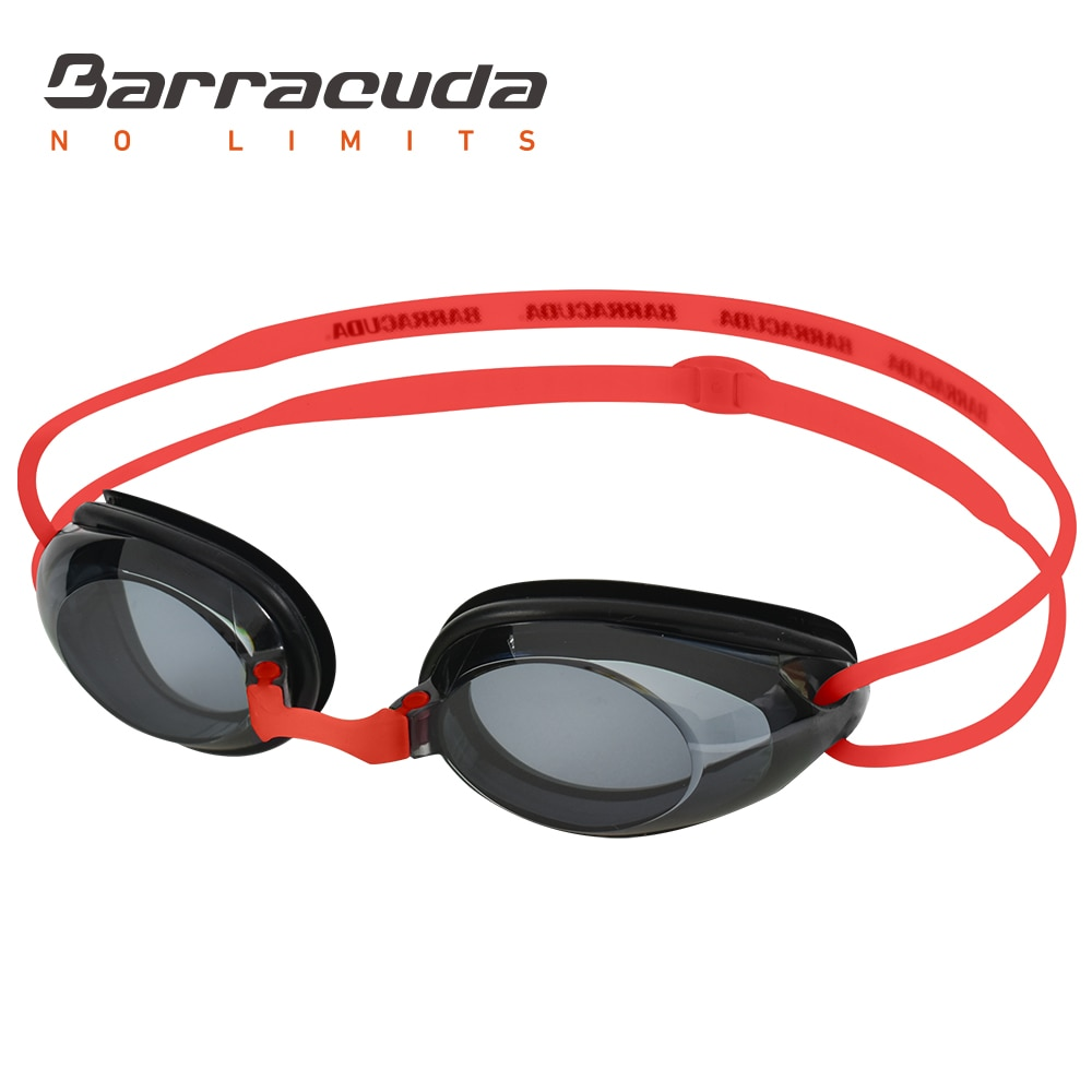 Barracuda Dr.B Myopia Swimming Goggles, Anti-Fog, UV Protection, Prescription Corrective Lenses, For Women Men#2195 Red