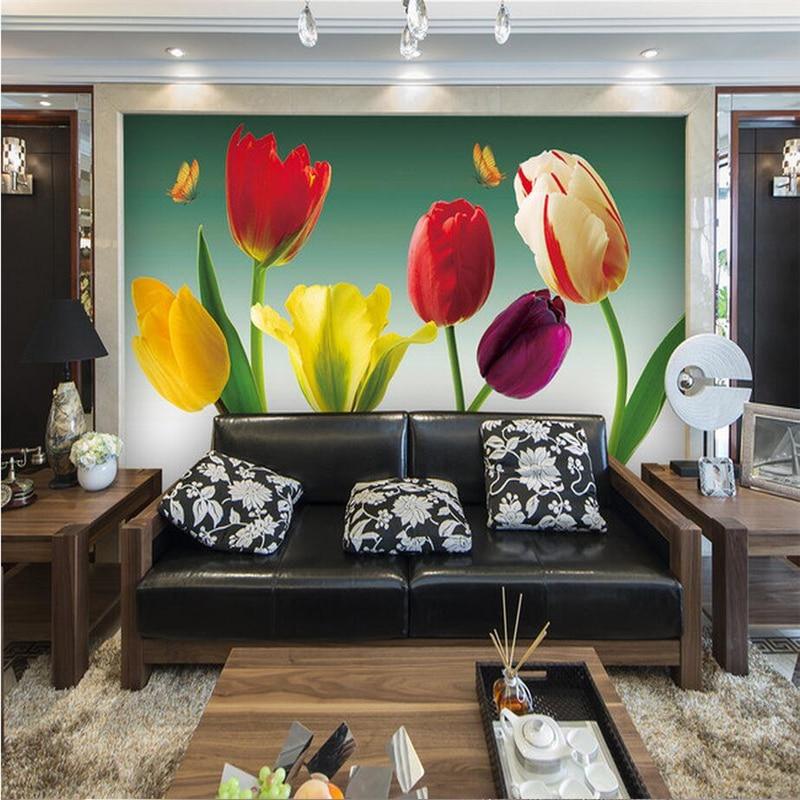 Papel tapiz 3D con foto personalizada para paredes, flores 3D, revestimiento de paredes románticas, sala de estar, decoración del hogar, flores, papeles murales de escritorio