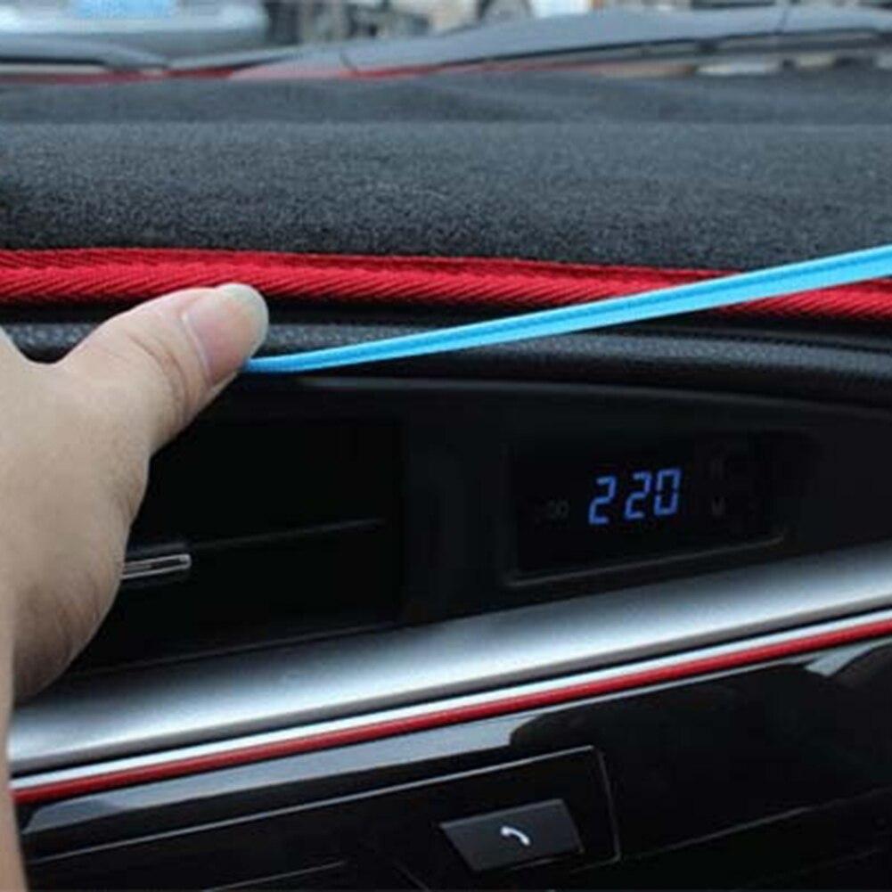 Tira de borracha flexível, 5m para o interior do carro exterior moldagem linha decorativa