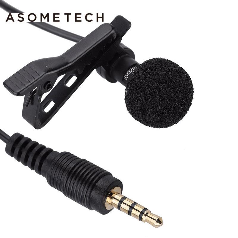 Micrófono portátil de solapa con Clip 3,5mm, Mini micrófono de condensador con...