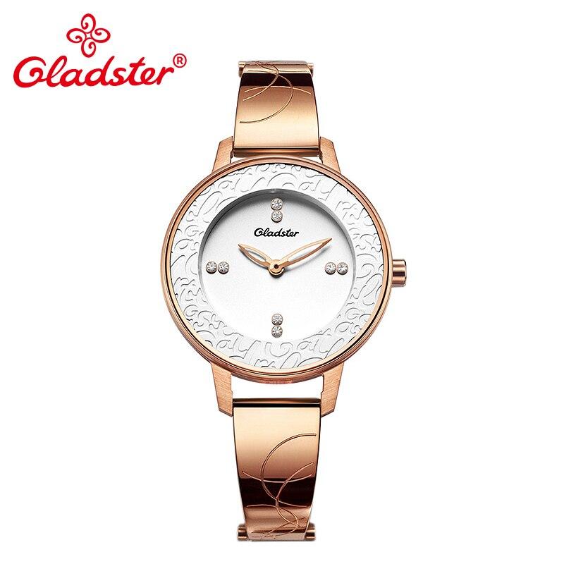 Marca de lujo de Japón MIYOTA GL20 moda reloj de pulsera para mujer romántico reloj de mujer de cristal de zafiro oro reloj de mujer
