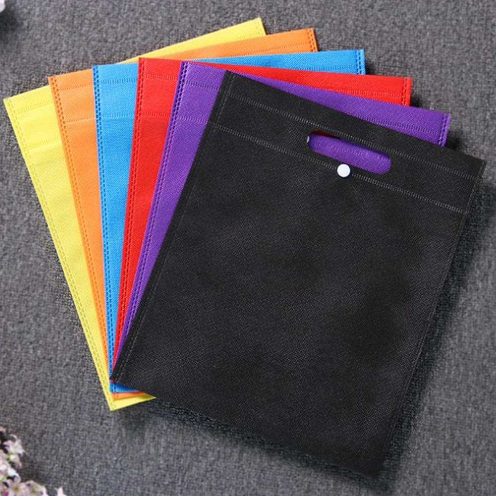 Femmes pliable sac à provisions réutilisable Eco grand unisexe tissu Non-tissé sacs à bandoulière fourre-tout épicerie tissu sacs poche