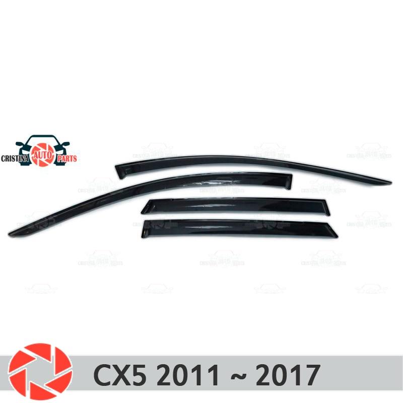 Deflector de ventana para Mazda CX5 2011 ~ 2017 deflector de lluvia protección de suciedad decoración de coche accesorios de moldeo