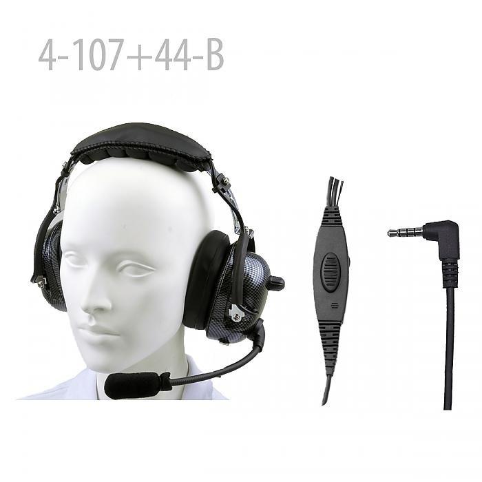 Carbon Fiber Pattern Heavy duty Noise Cancelling Headset for UV-3R UV-3R Mark II UV-100 UV-100 Mark II UV-200 UV-200 Mark II