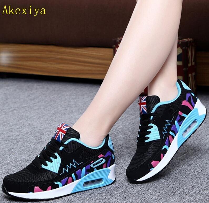 Akexiya 2019 Fashion Korean Women Spring Tenis Feminino Casual Shoes Outdoor Walking Shoes Woman Flats Lace Up Ladies Sneakers