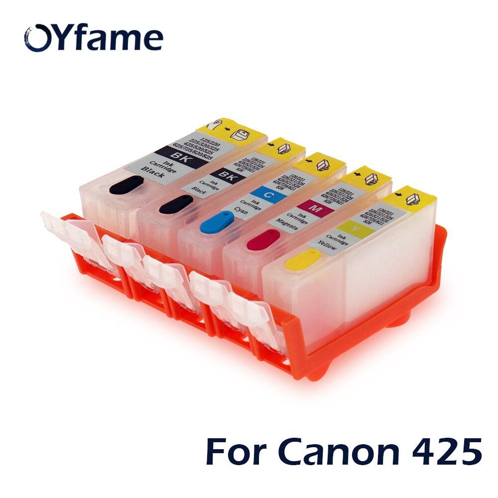 OYfame PGI-425 CLI426 nachfüllbare tinten patrone für canon PIXMA IP4840 IP4940 IX6540 MG5140 MG5240 MG5340 MX714 MX884 MX894
