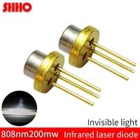 laser semiconductor to18diameter 5 6mm 808nm 200mw infrared laser diode ir laser launching head machine sensing accessories