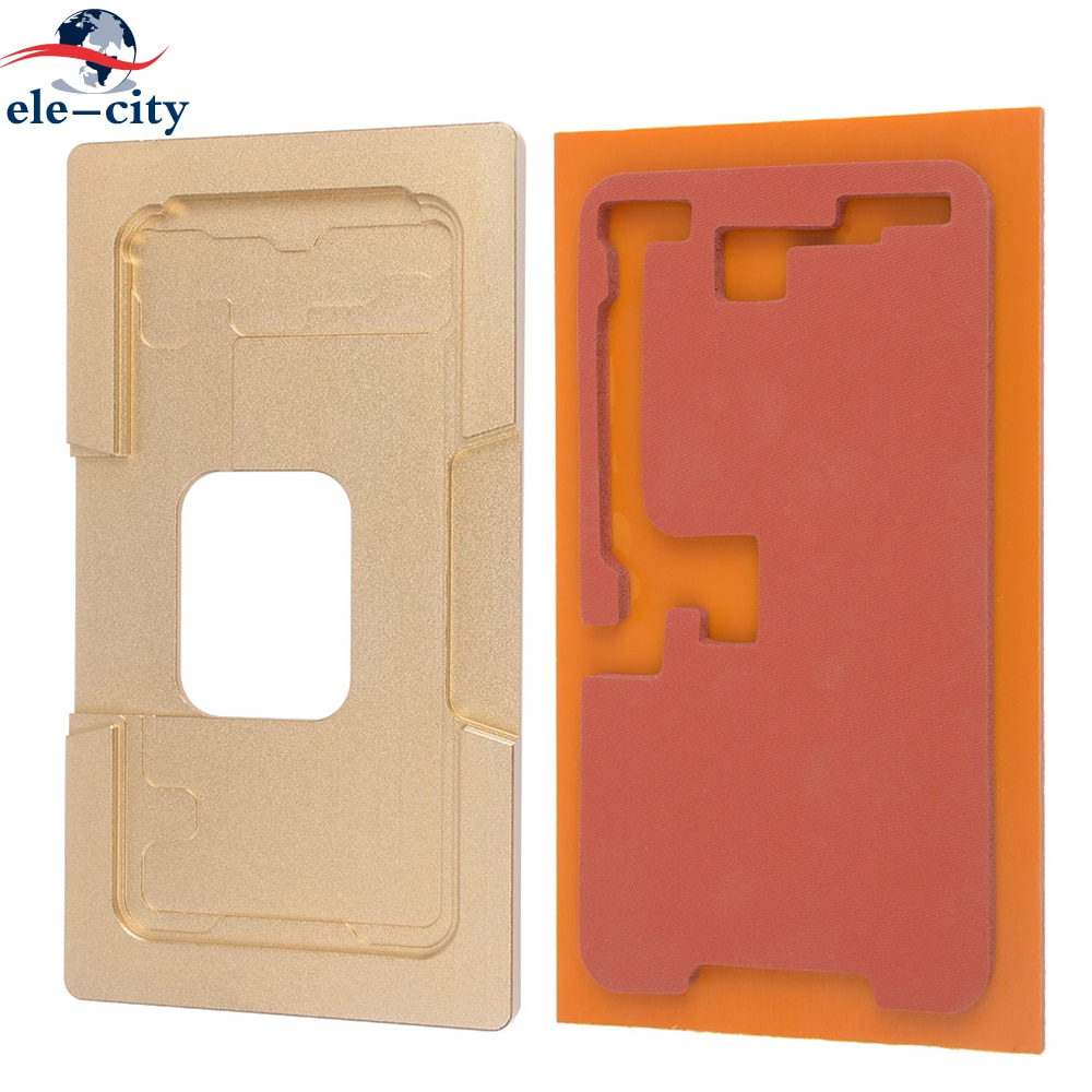 Aleación de aluminio LCD/pantalla táctil laminación molde + almohadilla protectora para iPhone X soporte de Unión posicionamiento molde metálico de aluminio