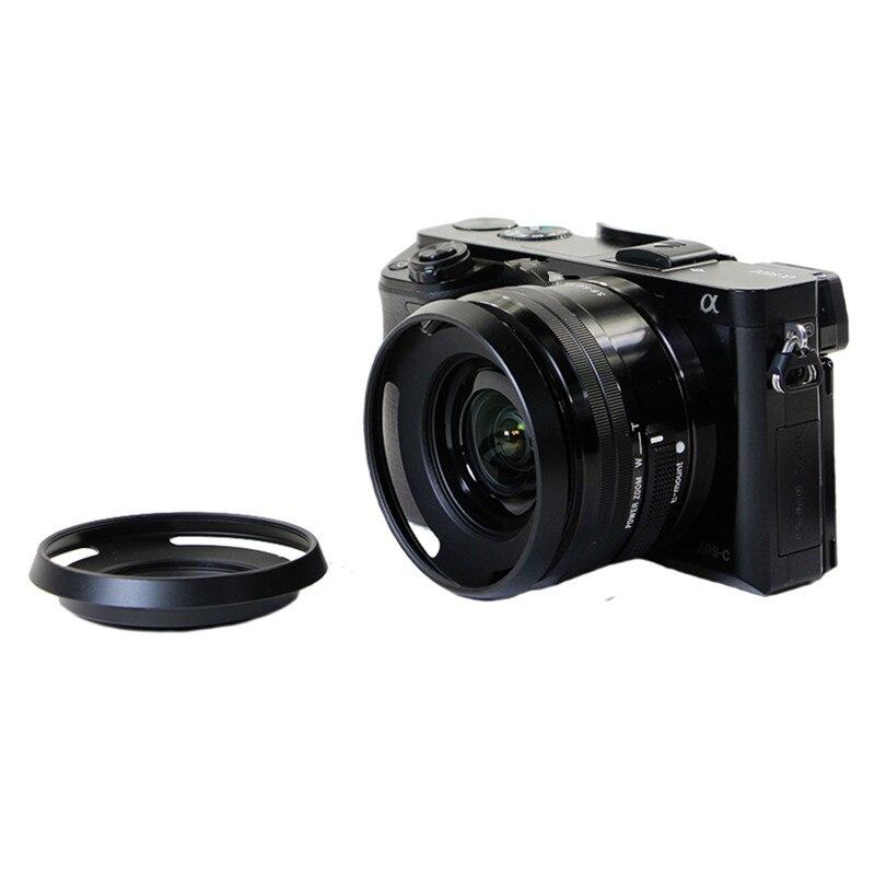 1 piezas 40,5mm Ultra lentes capucha para s & ny a5100 a5000 a6000 16-50mm E16-50mm F3.5-5.6 capucha de lente SLR OSS