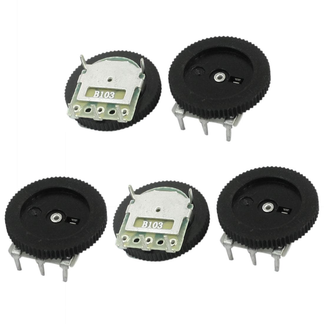 UXCELL 5 Stücke 16 Mm x 2mm 10 Karat Ohm Stereo Radio Lautstärkeregler Rad Potentiometer B103