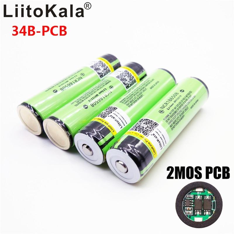 Батарея для фонариков LiitoKala NCR18650B, оригинальная аккумуляторная перезаряжаемая литиевая батарея 18650 3400 мАч, 3,7 В, 2019