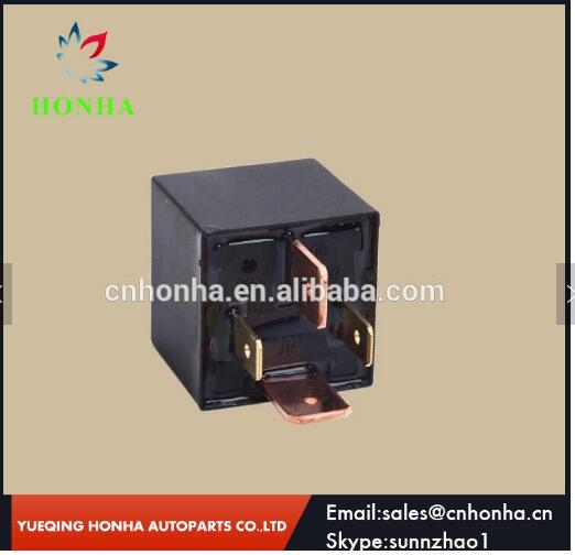 Relé de automóvil electrónico negro universal 4 pin DC80A 12V 24V para batería de coche