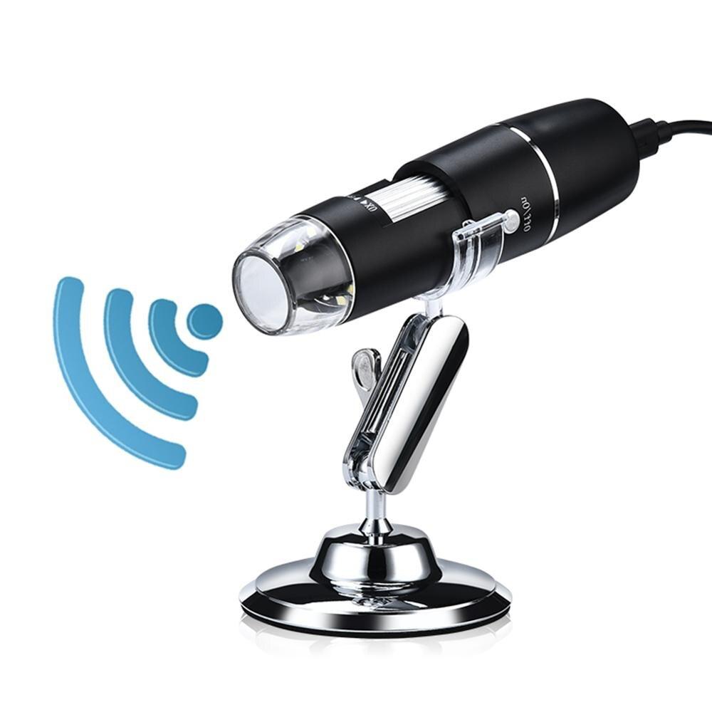 1000X Wifi Digital microscopio lupa cámara de inspección USB 8 LED con soporte para Android IOS microscopio electrónico portátil