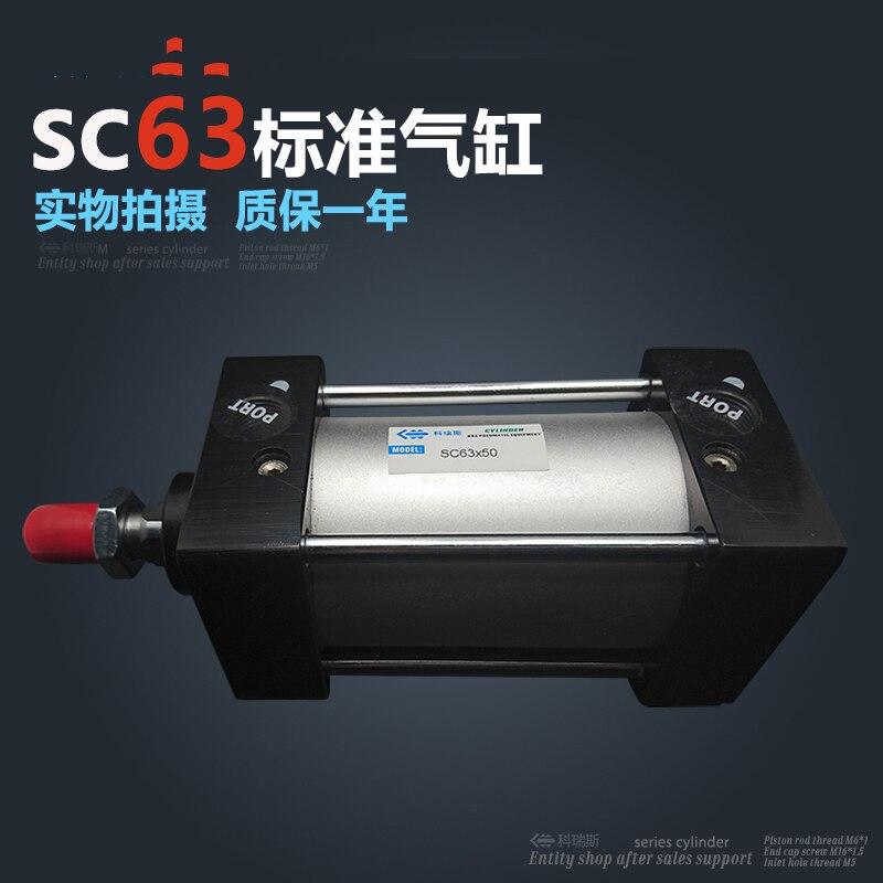 SC63 * 200 63mm agujero 200mm carrera SC63X200 SC Serie única varilla estándar cilindro de aire neumático SC63-200