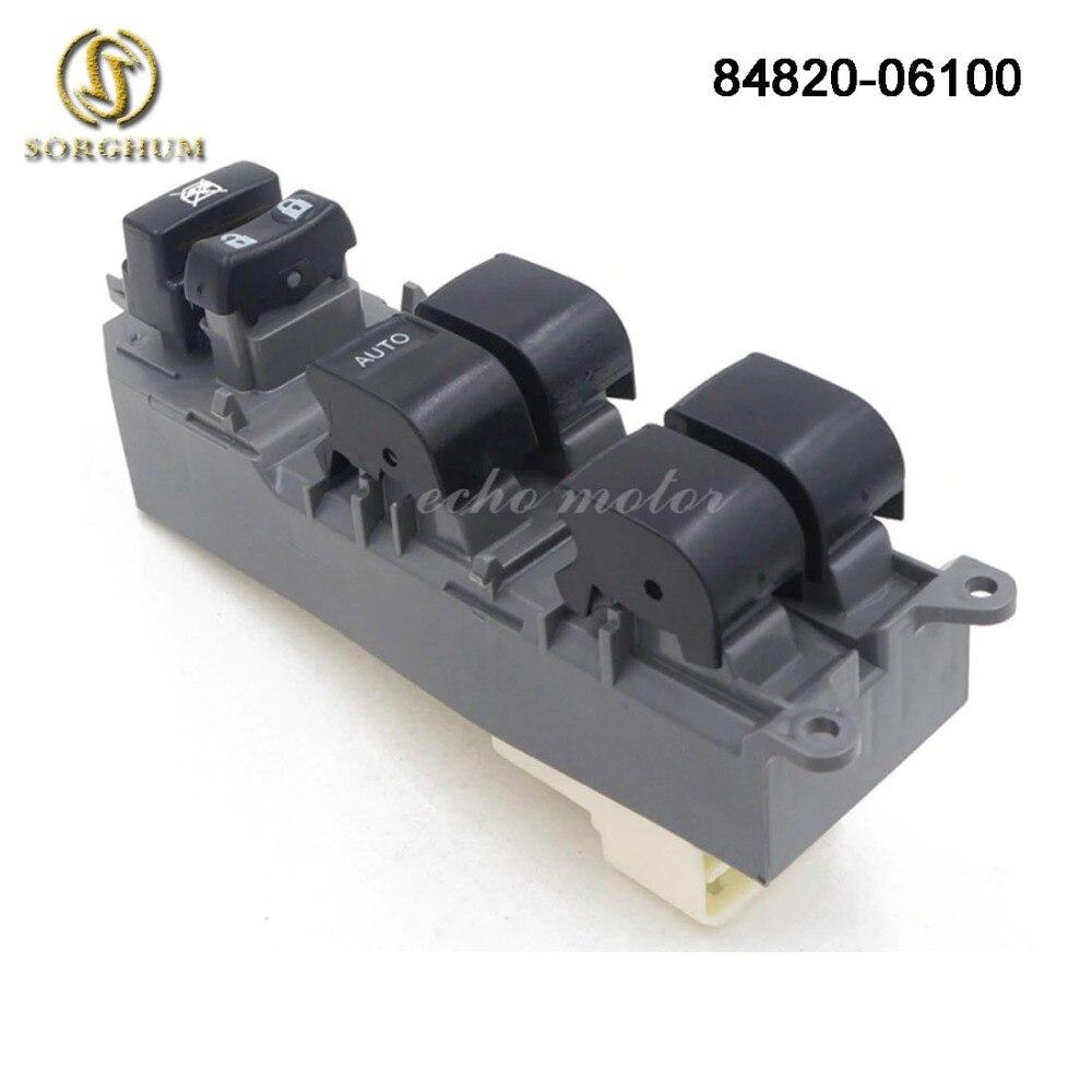 Nuevo botón de interruptor de Ventana izquierda de energía maestro 84820-06100 para Toyota RAV4 Camry Corolla Auris Urban Cruiser 84820-06130 84820-02190