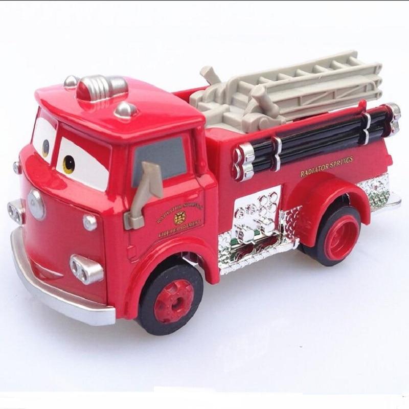 Disney Pixar Car 3 Fire Truck Little Red 1:55 Die Cast Metal Alloy Model Toy Car Children's Best Gif