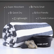 Serviette de plage turque   Peshtemal surdimensionné 40 x 70   Séchage rapide   Peshtemal 100% coton   Convient pour la randonnée, le Camping, la salle de sport