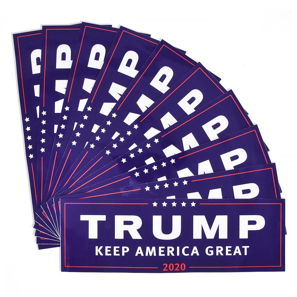 3/10 Uds. Donald Trump para Presidente 2020 parachoques cuerpo coche pegatina mantener América gran decoración coche estilo moda 23cm x 7,6 cm