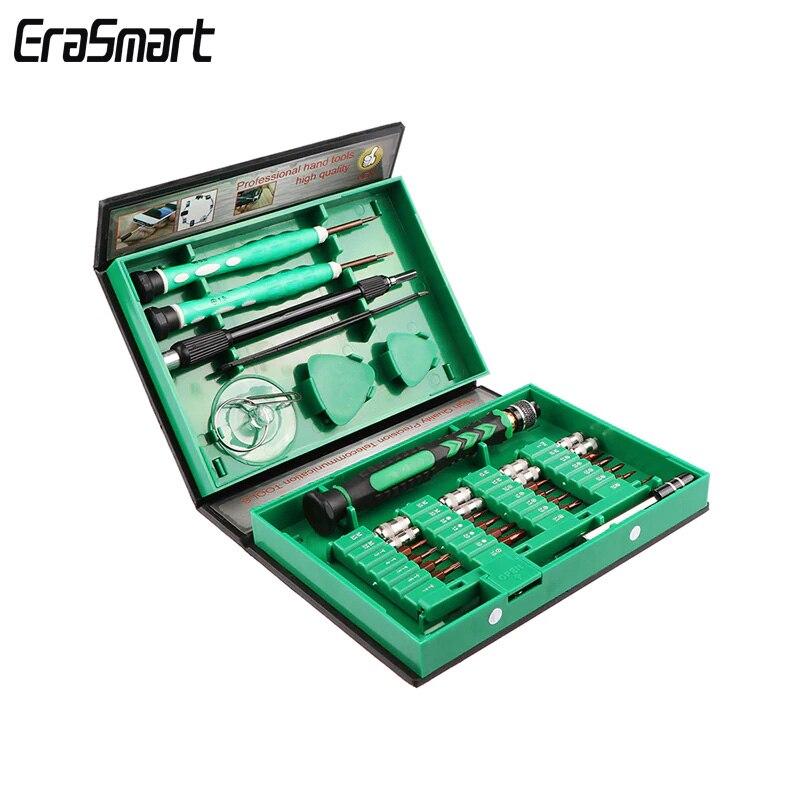 Juego de destornilladores 38 en 1, herramientas de reparación de precisión, Kit de caja, herramienta de apertura, pinzas, barra de extensión Spudger para relojes con cristales de teléfonos móviles
