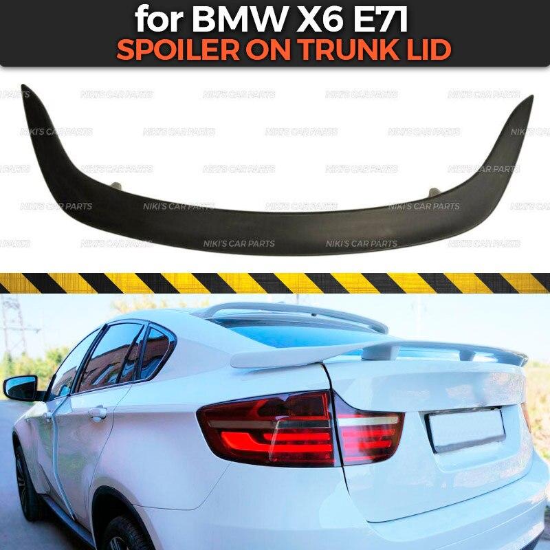 Spoiler fall für BMW X6 E71 2008-2014 ABS kunststoff spezielle begrenzte aero flügel dynamische form dekoration auto styling tuning