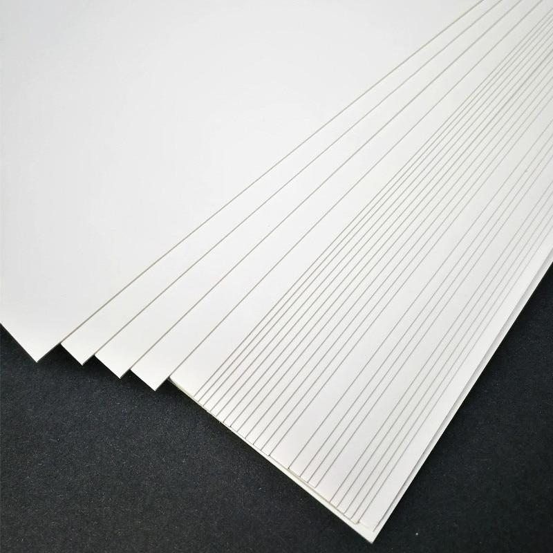 50 шт./лот A3 A4 A5 белая крафт-бумага для самостоятельного изготовления карт 120 г 180 г 230 г 300 г 400 г крафт-бумага толстый картон
