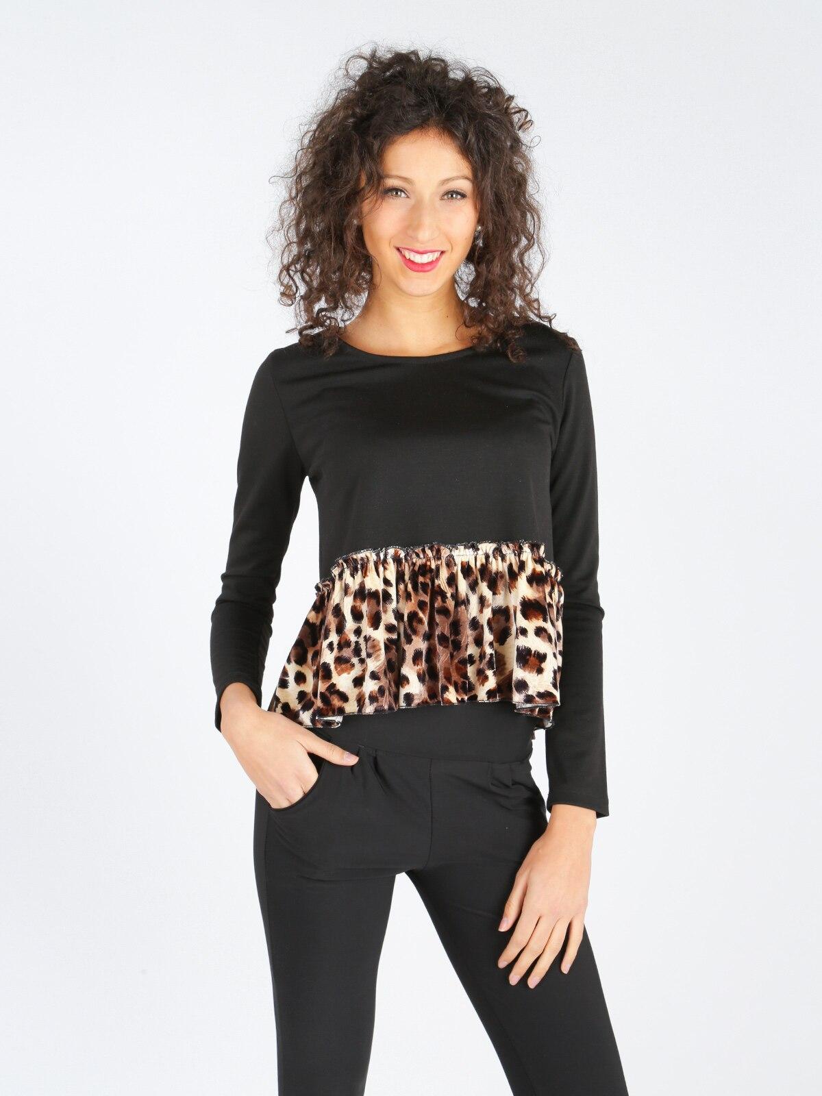 Chaleco con estampado de leopardo
