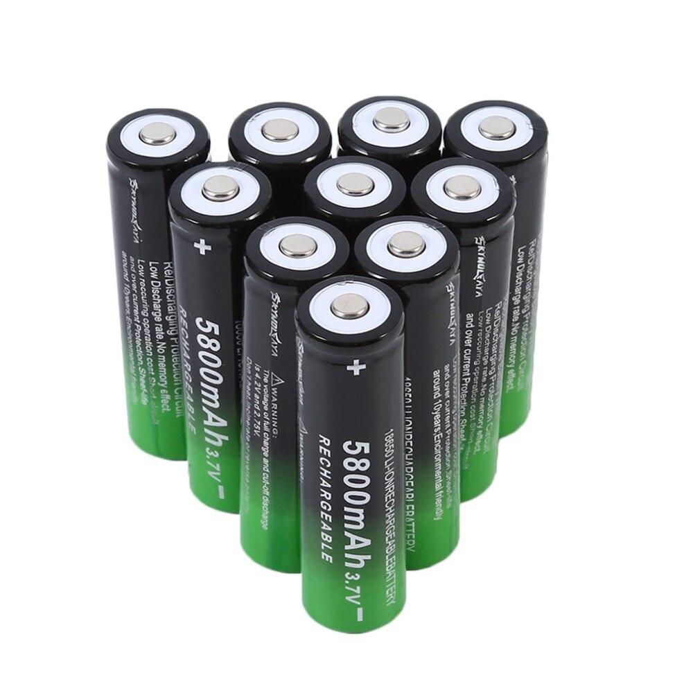 18650 Bateria Li-ion Recarregável 3.7 v 5800 mah para Lanterna tocha farol 1/2/4/8/ 10 pcs bateria recarregável