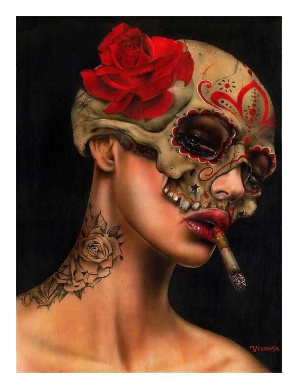 Lienzo de pintura al óleo de alta calidad reproducciones Viva La Muerte...
