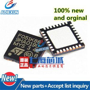 5Pcs 100% New and original STM32F051K6U6 QFN32 STM32F051 MCU 32-bit STM32 ARM Cortex M0 RISC 32KB Flash 2.5V/3.3V in stock