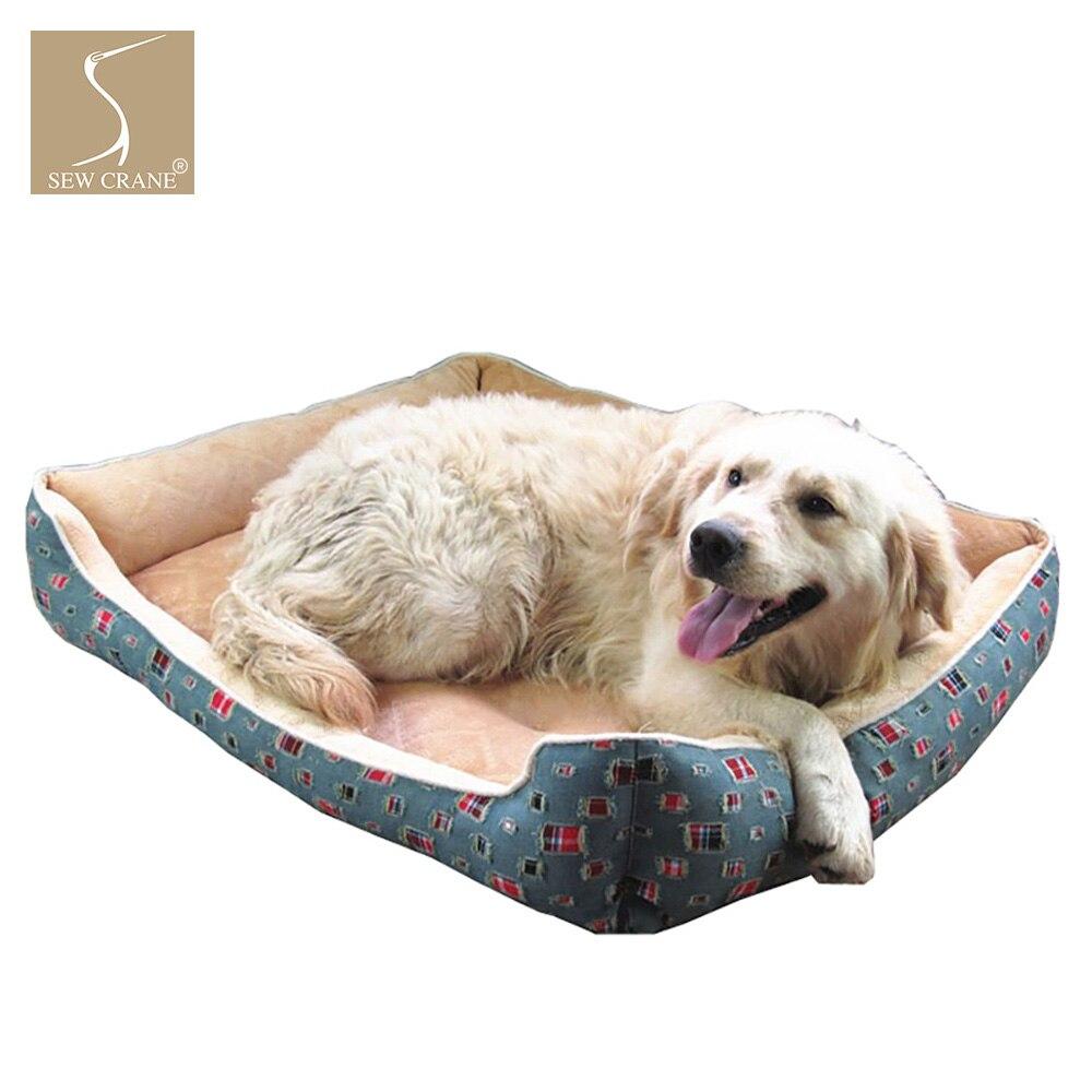 SewCrane модный сломанный деним прочный щенок Cuddle Съемная подушка моющаяся собака/кошка Спящая кровать