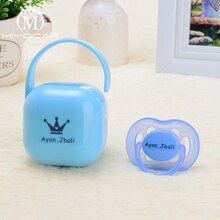 MIYOCAR personalized any name text photo can make Pacifier Storage Box and pacifier set ideal gift for baby custom pacifier