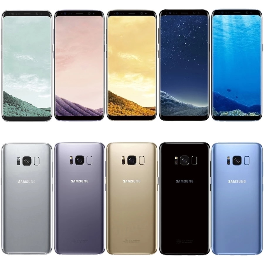 Samsung Galaxy S8 + G955U AT&T RAM 4GB ROM 64GB Завод разблокированные сотовые телефоны Android смартфон 6,2 дюйм мобильный телефон Бесплатная доставка