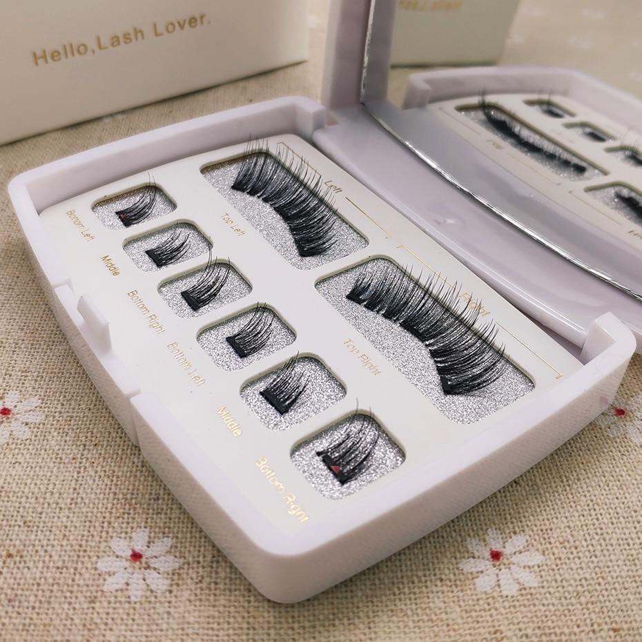 Genailish, 8 шт., 3D Магнитные натуральные накладные ресницы с 3 магнитными норковыми полными полосками, набор ресниц и пинцетов, аксессуары для макияжа глаз