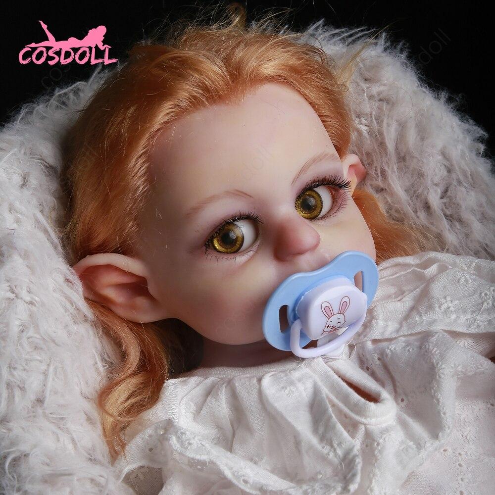 Muñeca Reborn de silicona sólida para niños, juguete de bebé de 42CM y 2,5 KG, elfo realista con orejas grandes, pezones