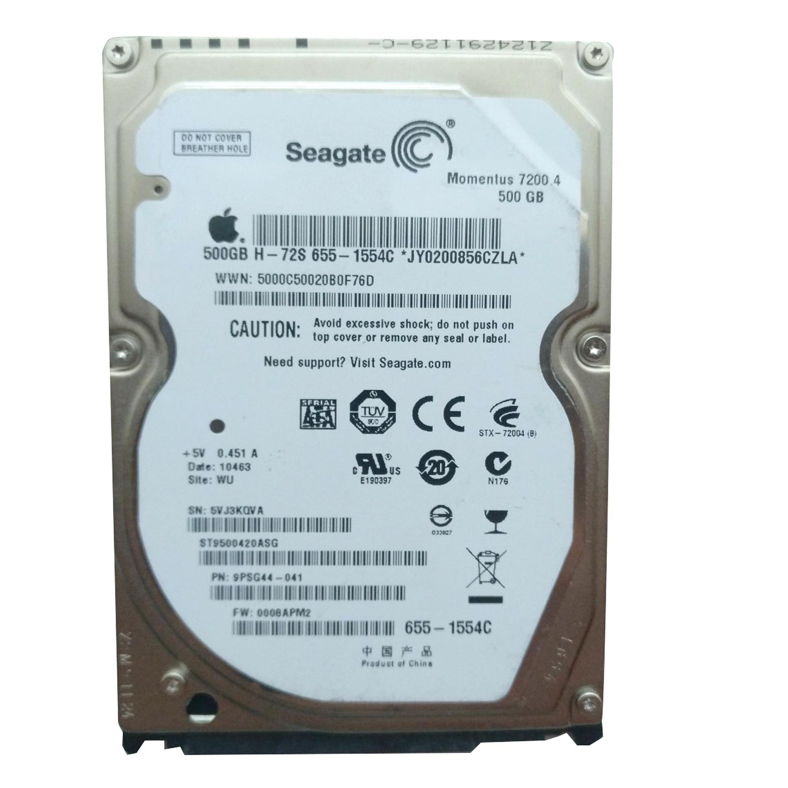 "Disco Duro interno HD HardDisk 2.5"" SATA HITACHI WD SCORPIO TOSHIBA SEAGATE 500GB 7200 rpm para Portatil Laptop Hard Disk"