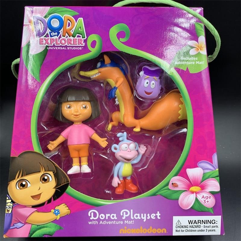 Juguetes universales de DORA explorer, set de juguetes con figuras de aventuras, modelo regalo