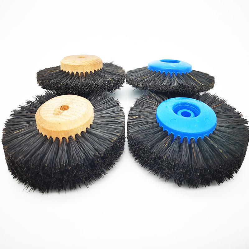 2 stücke Dental Labor Materialien Zahnmedizin Odontologia Latch Polieren Pinsel Rad Dreh Werkzeuge Wolle Ziege Baumwolle Schwarz Buff