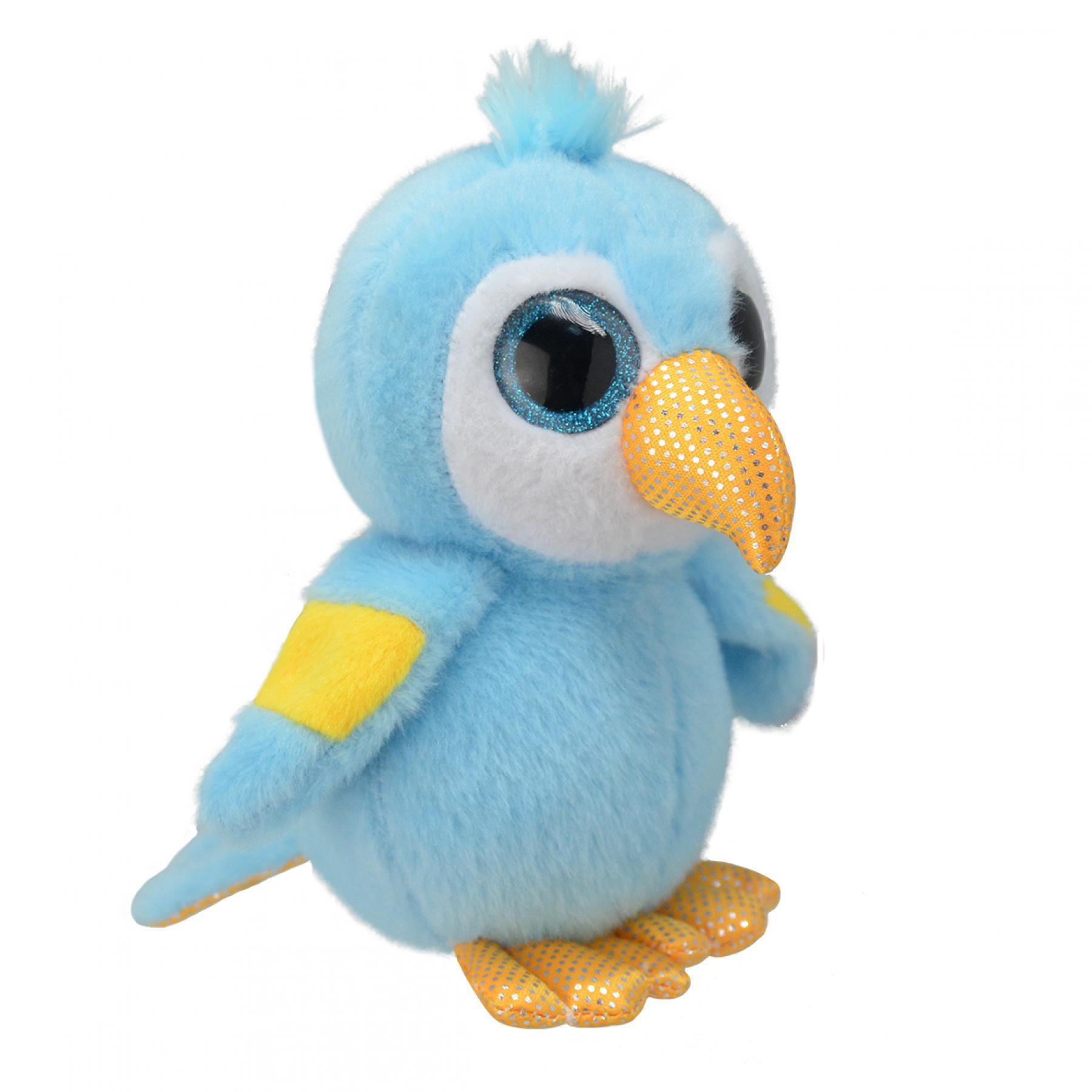 Animais de pelúcia animais de pelúcia brinquedo macio do planeta selvagem macaw 15 cm para crianças jogos para meninos e meninas para crianças brinquedos macios animais de pelúcia
