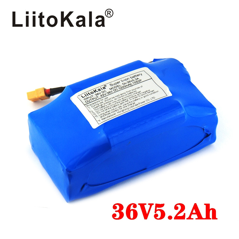 """Liitokala 36 v 4.4ah 5.2ah alta dreno 2 roda scooter elétrico auto balanceamento bateria de lítio para auto-balanceamento se encaixa 6.5"""""""