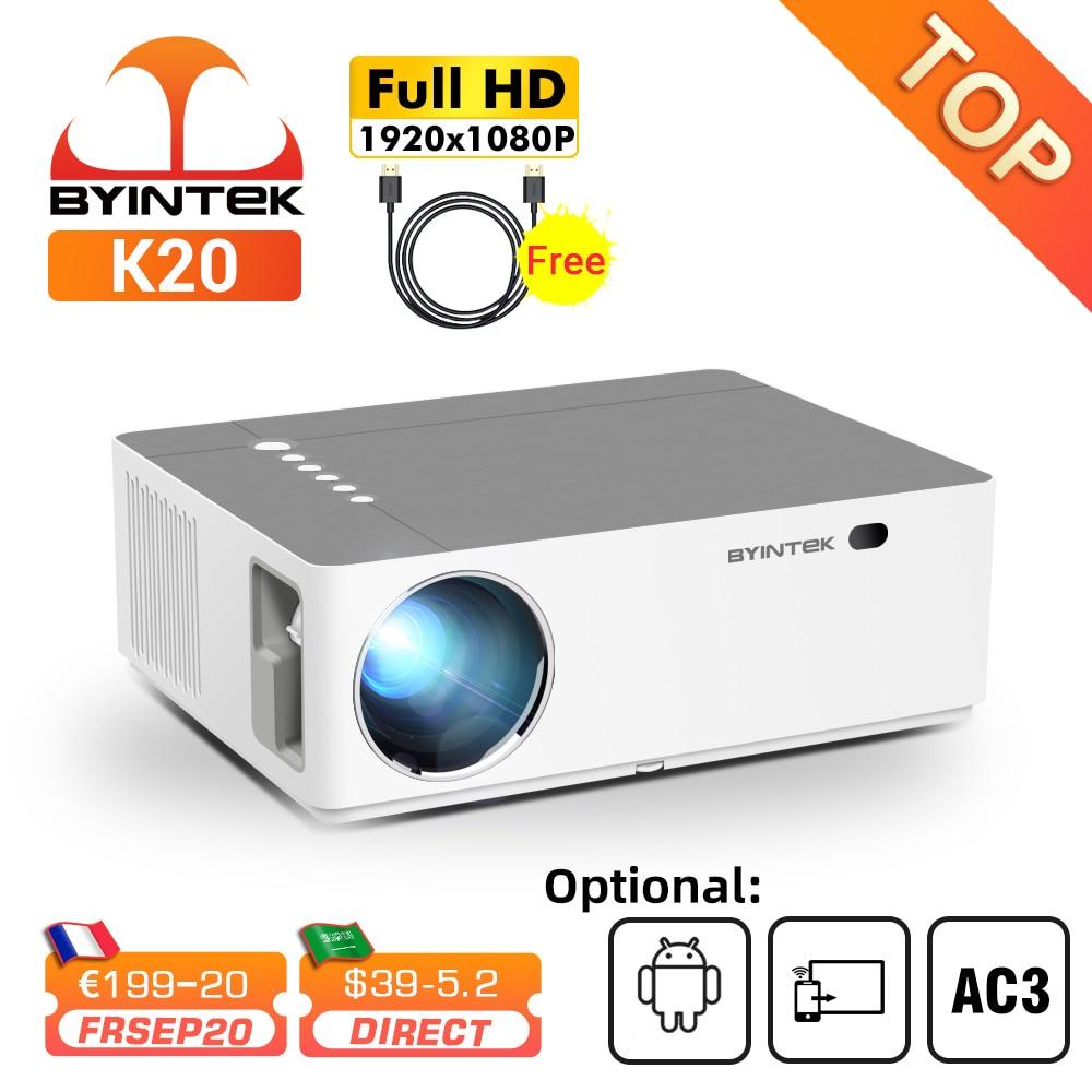 Проектор BYINTEK K20 для смартфона, планшета, ПК, кинотеатра, Full HD, 4K, 3D, 1920x1080p, Android, Wi-Fi