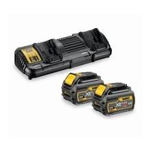 DEWALT DCB132T2-QW-Kit 2 Batteries Lane XR FLEXVOLT 54 V 18 V Li-ion 6.0Ah et chargeur Double XR FLEXVOLT li-ion batterie