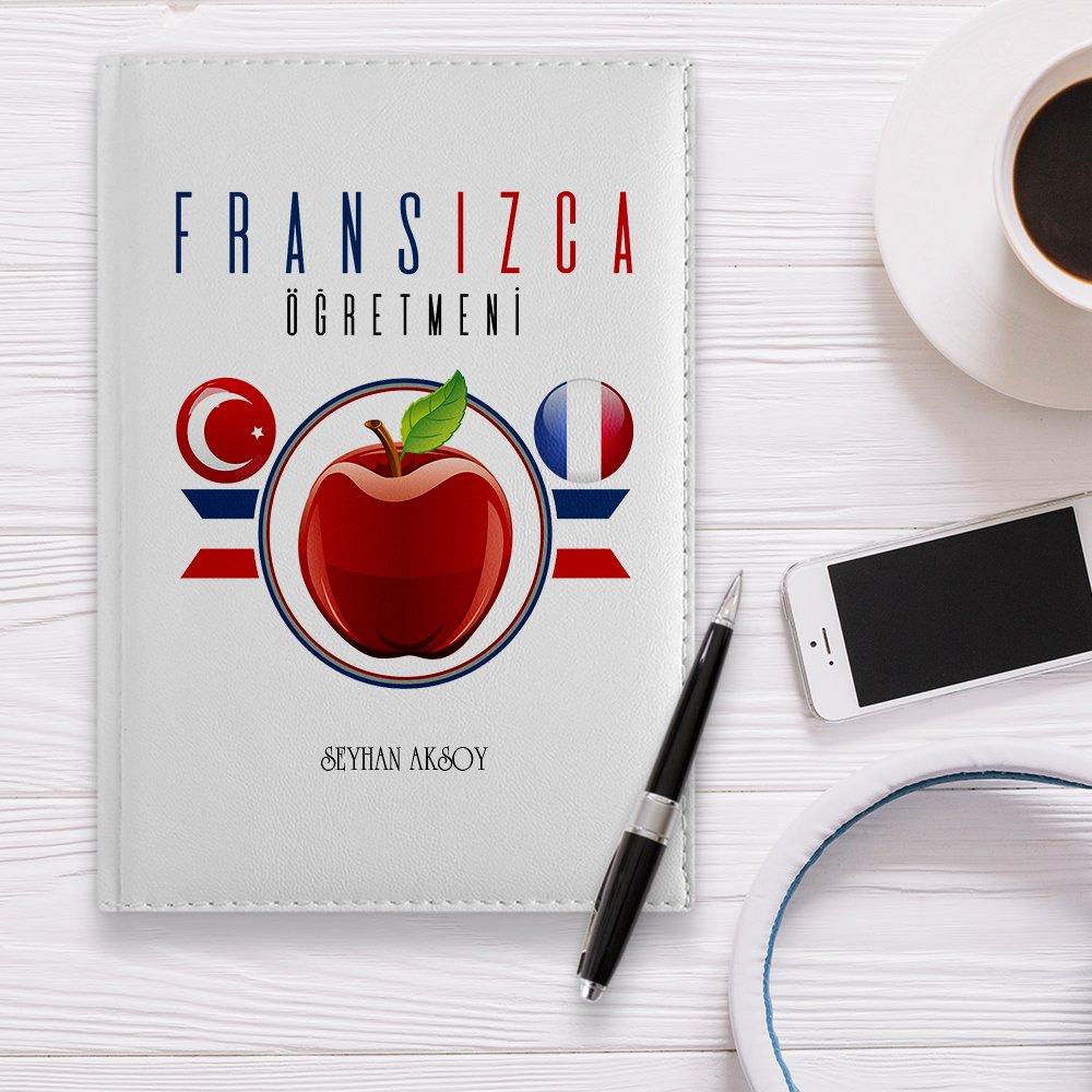 منظم جلد أبيض 2020 للمعلم الفرنسي مخصص-3