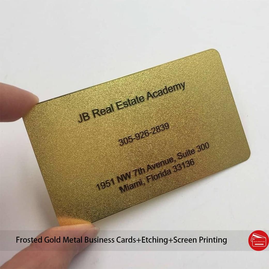 Металлическая визитница из нержавеющей стали, позолоченная металлическая карточка с цветной печатью в соответствии с вашими требованиями