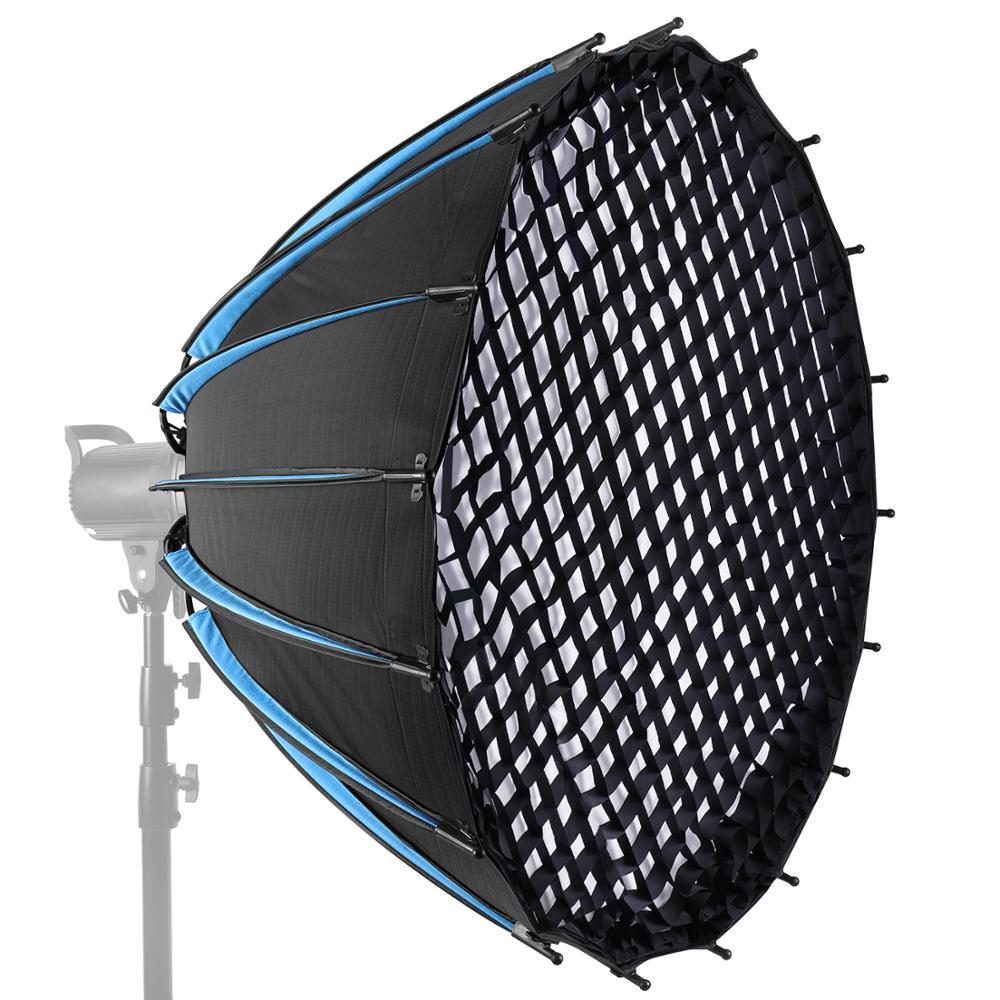Шестиугольник Neewer, параболический софтбокс с сеткой и сумкой для переноски, портативный светодиодный софтбокс для освещения, студийная всп...