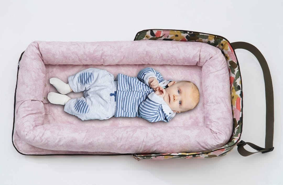 100*60 Cm Babynest Bed With Pillow Portable Crib Travel Bag Newborn Sleep Swaddle Cotton Fabric Has a Usage Range of 0-2 Years