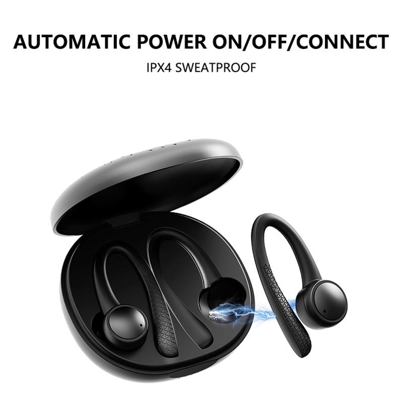 Novo 5.0 bluetooth sem fio fones de ouvido com handsfree esporte fone toque rarbuds cancelamento ruído gaming headset