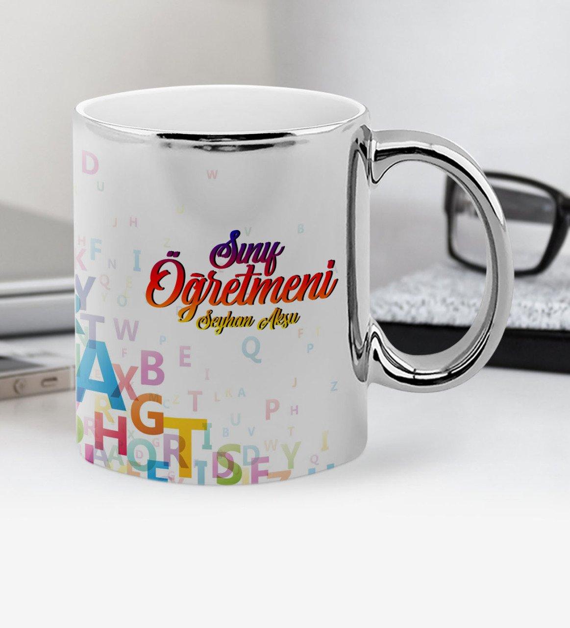 Personalized Class Teacher Chrome Mug Cup-2