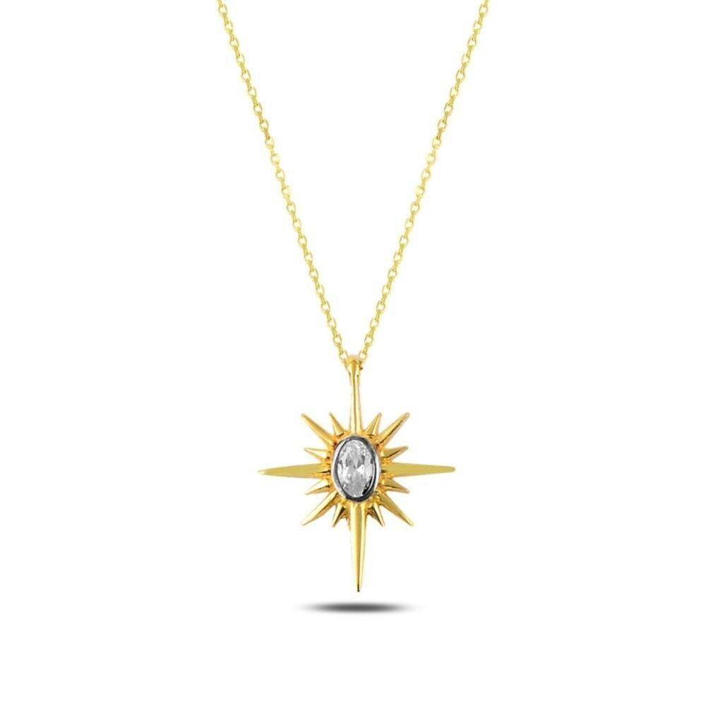 Collar de plata de ley 925 joyería Estrella del Norte elegante mujeres regalo calidad joyas de Turquía